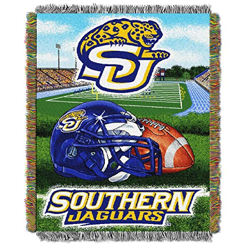 """NCAA Southern Jaguars Home Field Advantage Woven Tapestry Throw, 48"""" x 60"""""""