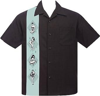 Steady Clothing - Camisa de bolos para hombre, diseño vintage ...