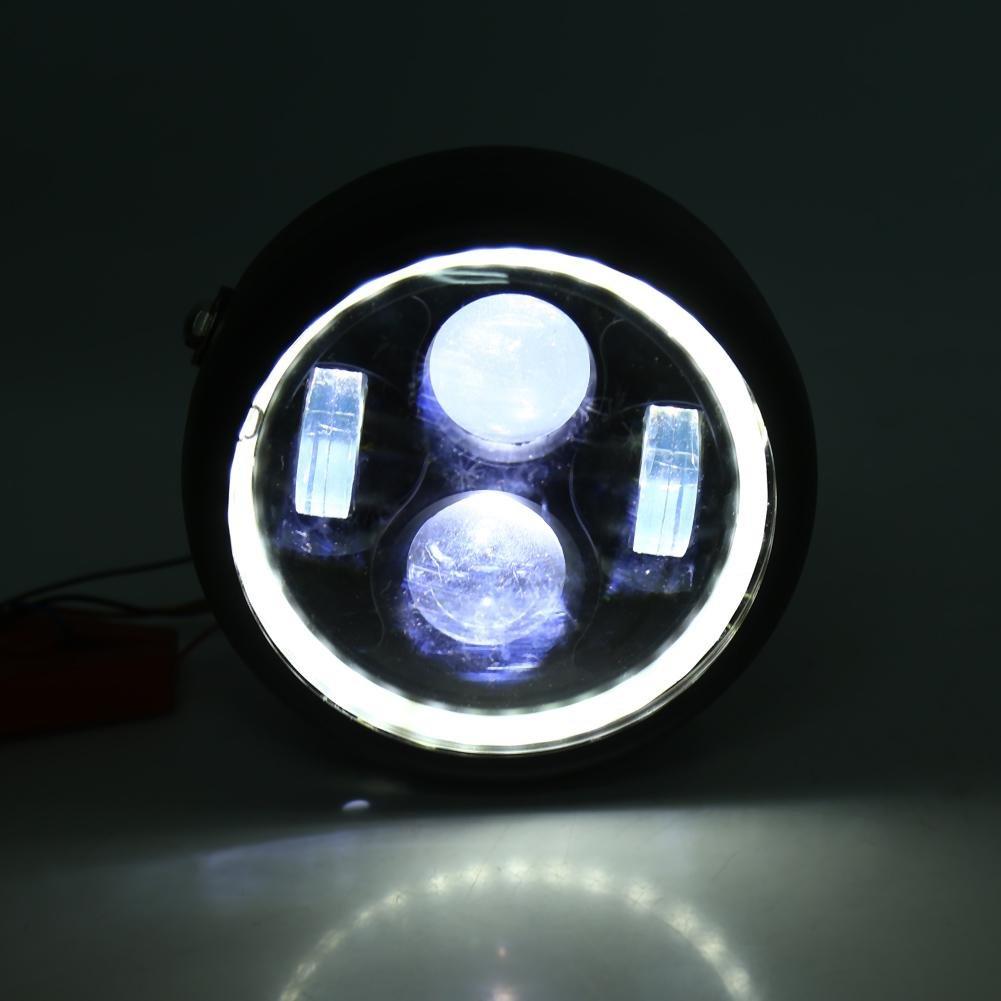 1 PC de 16cm Phare de moto 6.5Ampoule de phare de phare de moto LED pour Harley Sportster Cafe Racer Bobber.