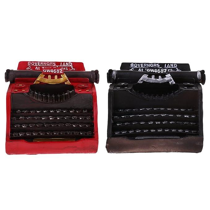 MagiDeal Vintage Modelo Máquina de Escribir Artesanía de Resina Adorno para Bar Cafetería Decoración de Hogar - Negro: Amazon.es: Hogar