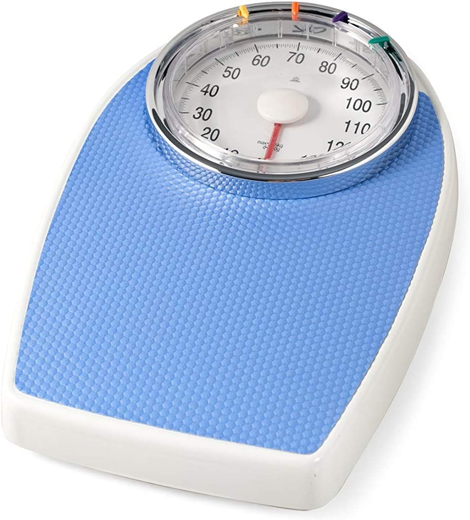 Hellblau Glass Surface up to 180 kg Tclothing Body Fat Monitor Mechanical Scale 136-DT602 Artemid Personenwaage Mechanisch