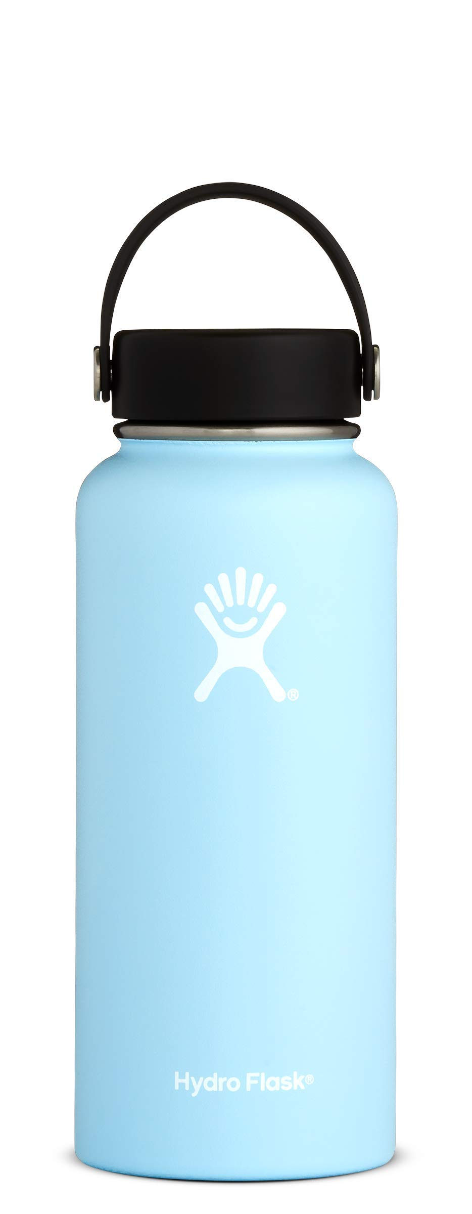 Hydro Flask Stainless Steel Water Bottle, Wide Mouth with BPA Free Flex Cap, 32 oz, Frost