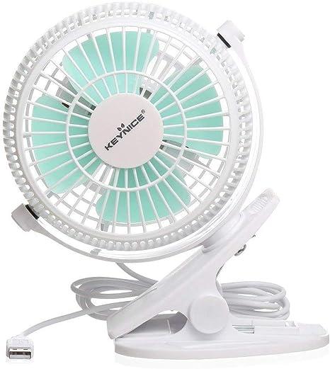 Portable Desktop Clip Fan 2-Speed Home Silent Fan Mini USB Fan