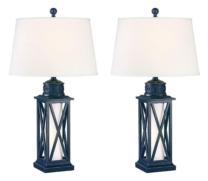 Amazon.com: Seahaven - Lámpara de mesa, diseño de farolillo ...