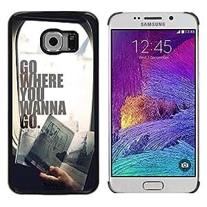 Dragon Case - FOR Samsung Galaxy S6 EDGE - Don't give up in life - Caja protectora de pl??stico duro de la cubierta Dise?¡Ào Slim Fit