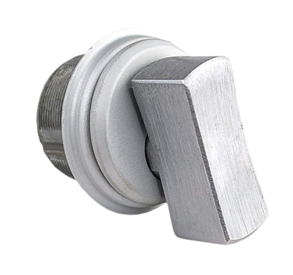 Global Door Controls Oversized Zinc Thumbturn Mortise Cylinder in Aluminum