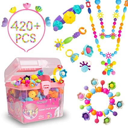 Amazon.com: GAMZOO Pop Beads para niñas regalos de ...