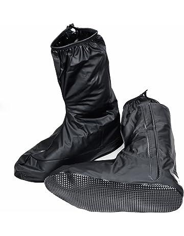 345fa6e310 Anzio Unisex Men Women Black Rain Boot Shoe Cover w Zipper US 10 11 For