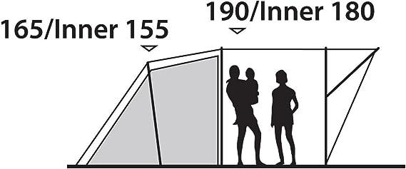 Outwell Zweiraum Tunnelzelt Rockwell 3, 27 x 66 x cm, 110324