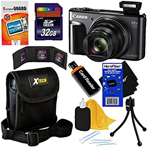 Canon PowerShot SX720 HS 20.3 MP Wi-Fi Digital Camera with 40x Zoom & HD 1080p video (Black) + Accessory Kit w/ HeroFiber Gentle Cleaning Cloth