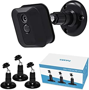 Blink XT / XT2 Camera Mount, 360 Degree Adjustable Indoor/Outdoor Wall Mount Bracket for Blink Home Security System Black 3 Pack