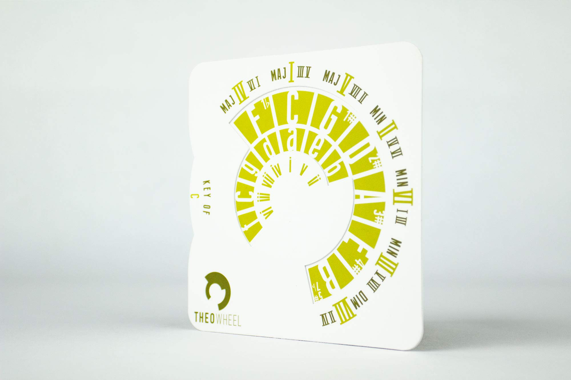Theo Wheel - Music Theory Made Simple (Yellow - Rock)