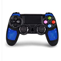 Controller PS4 wireless di alta qualità con DoubleShock 4 e batteria agli ioni di litio con 1000 mAh di capacità per PlayStation 4. Compatibile con PS4/Slim/Pro, Windows e PSTV/SMART TV (Blu)