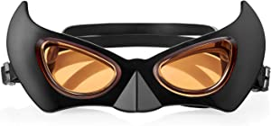 Swim Hero Kids Swimming Goggles - Superhero Batman Swim Goggles - Fun Swim Goggles for Boys and Girls (Age 3-8 years) - (Anti-Fog, UV Protection, Crystal Clear Lens, No Leaking, Quick Strap)