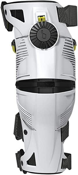 Mobius X8 Knee Braces-White/Acid Yellow-M