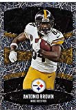 2018 Panini NFL Stickers Collection #112 Antonio Brown Pittsburgh Steelers Foil Official Football Sticker