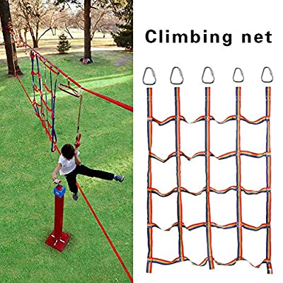 Kids Climbing Net Climbing Net-Outdoor Rainbow Ribbon Net Physical Training Climbing Net Climbing Attachments Climbing Rope Ladder for Daily Sports and Entertainment : Baby