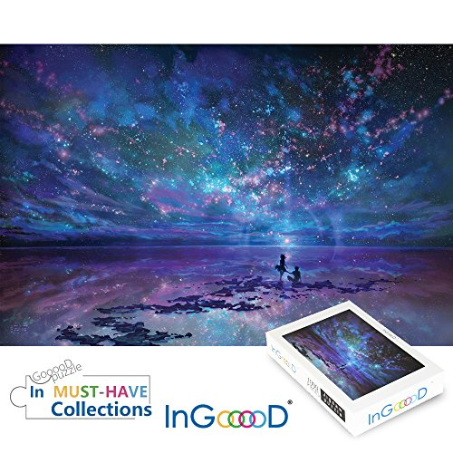 Ingooood Jigsaw Puzzles 1000 Pieces- Imagination Series Fantasy Romantic Star Sea (Series Imagination)