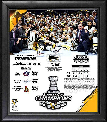 (Pittsburgh Penguins 2017 Stanley Cup Champions Framed 15
