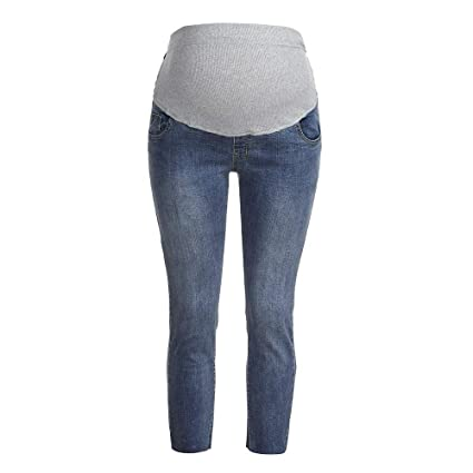 1e9fc345af7b3 Amazon.com: Maternity Women's Maternity Indigo Blue French Terry Secret Fit  Belly Denim Jegging: Appliances