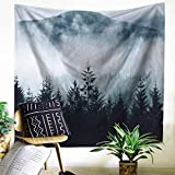 """Wall Tapestry Misty Mountain and Forest Scene Wall Hanging Indian Wall Art Home Décor 51""""L x 59""""W by ZHH"""