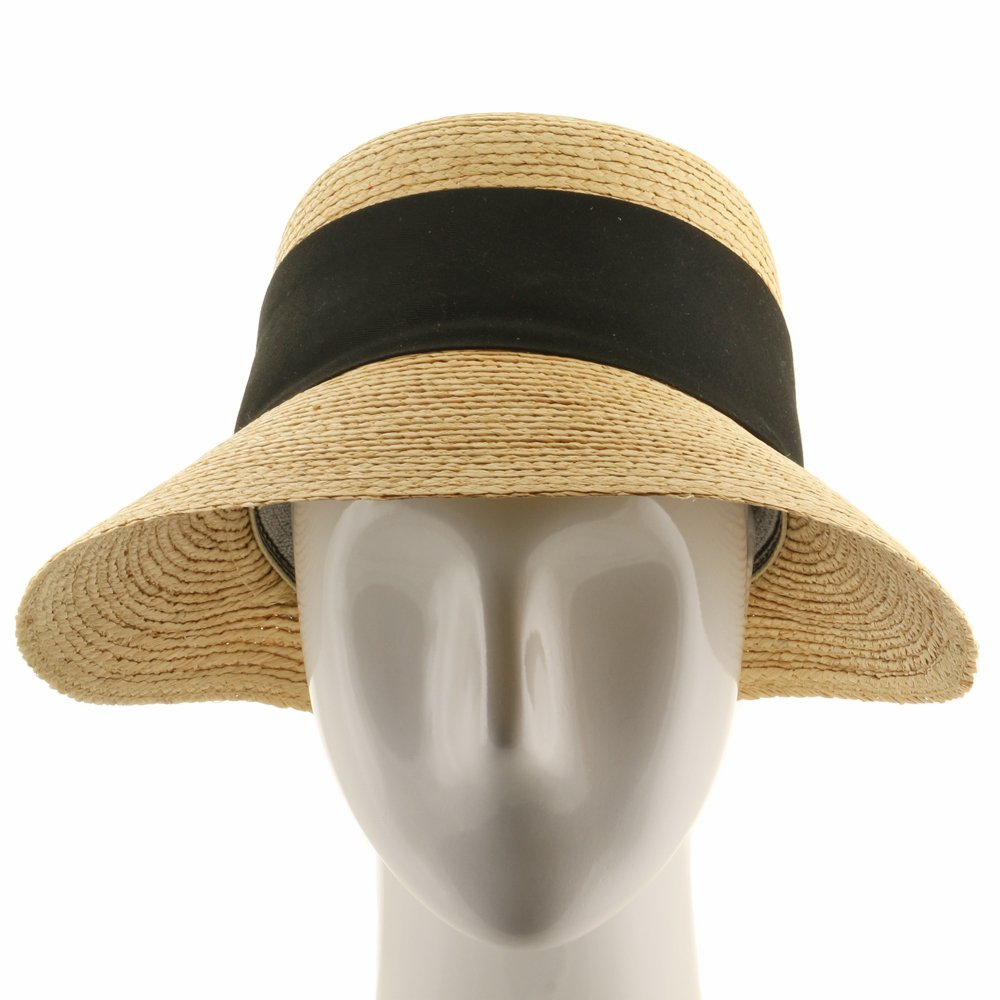 2f2eae133b024 Ultrafino Golf Visor Scoop Panama Straw Hat Womens at Amazon Women s  Clothing store