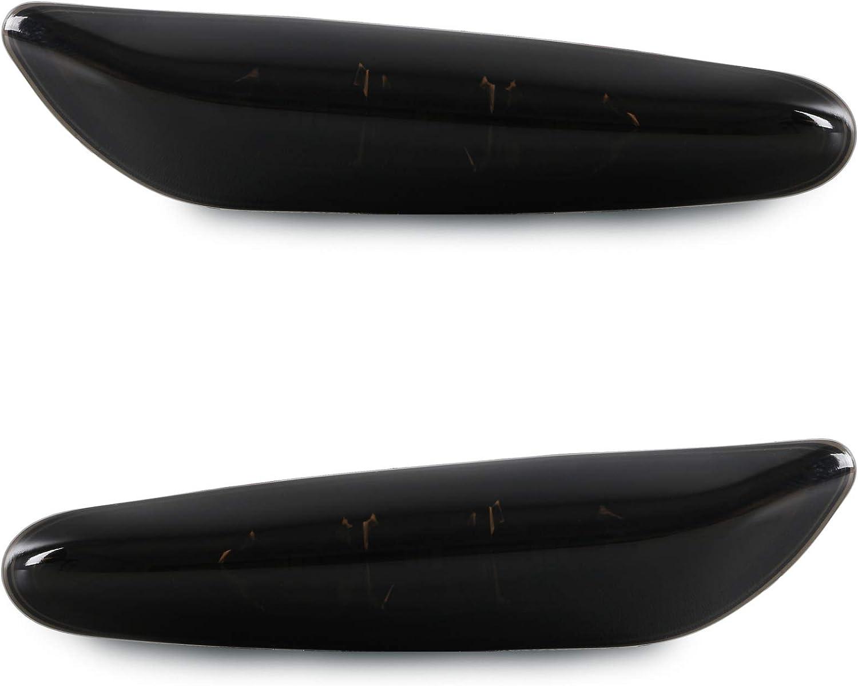 Smoke LED Seitenblinker Seiten Blinker Klarglas kompatibel f/ür 1er E81 E82 E87 E88 3er E90 E91 E92 E93 E46 5er E60 E61 X1 X3