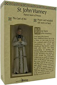 Roman Inc. St. John Vianney Saint Catholic Figurine Patron 40700
