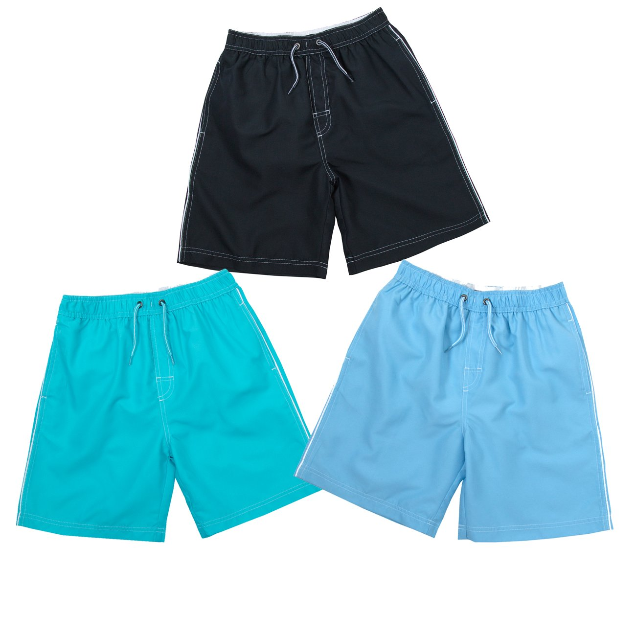 Cargo Bay Infant Boys Colourful Swim Shorts Perfect for Summer Beach Holidays Orange, Red and Navy 9-10 Years