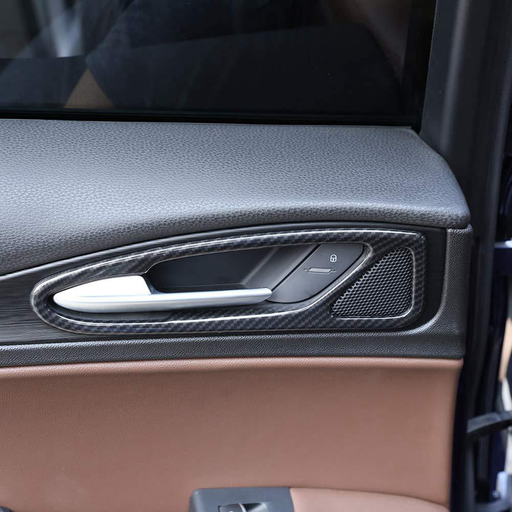 Style de Fibre de Carbone Accessoire de Cadre int/érieur de poign/ée de Porte int/érieure de Voiture en Plastique ABS pour Stelvio 2017 2018