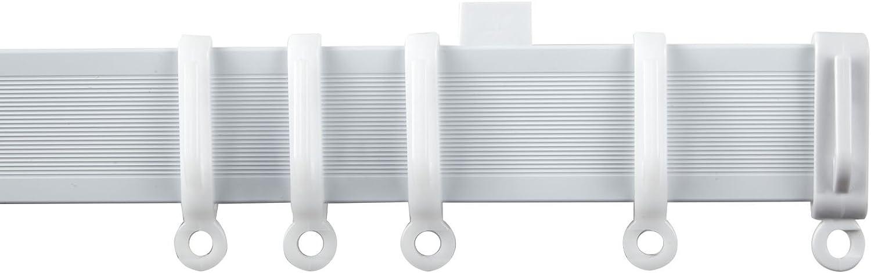 Alu White Aluminium Flexible Curtain Track Ideal for Bay or Straight Windows 360cm Streamline