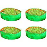 COCOGARDEN Plastic Leafy Vegetable Wide Grow Bags, 15x6 Inches (Green) - Pack of 4
