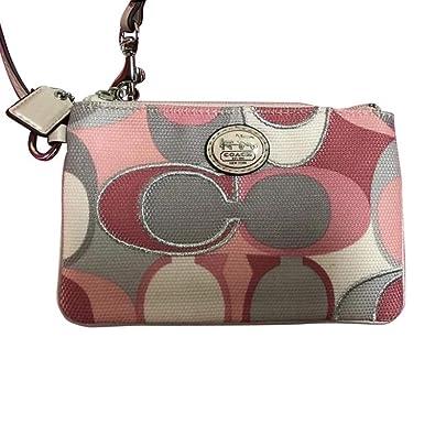 Coach 46614 - Cartera de mano con asa de Lona para mujer Rose Grey: Amazon.es: Zapatos y complementos