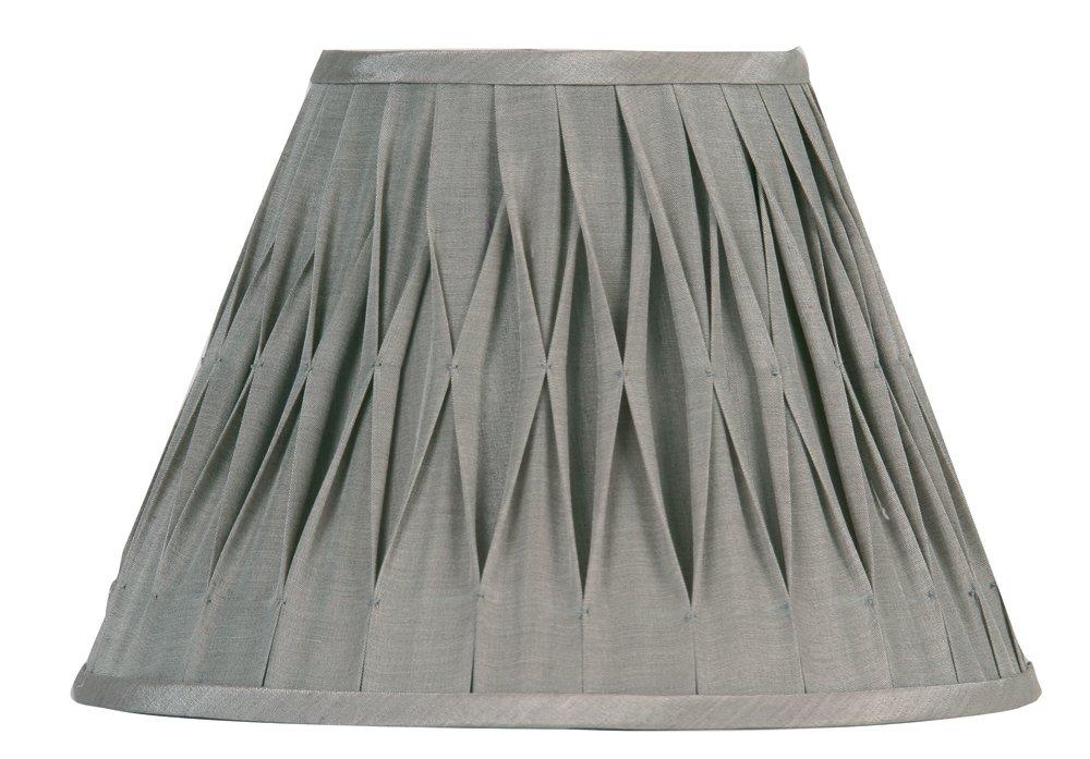 Soft grey faux silk pleated coolie shade amazon lighting aloadofball Choice Image