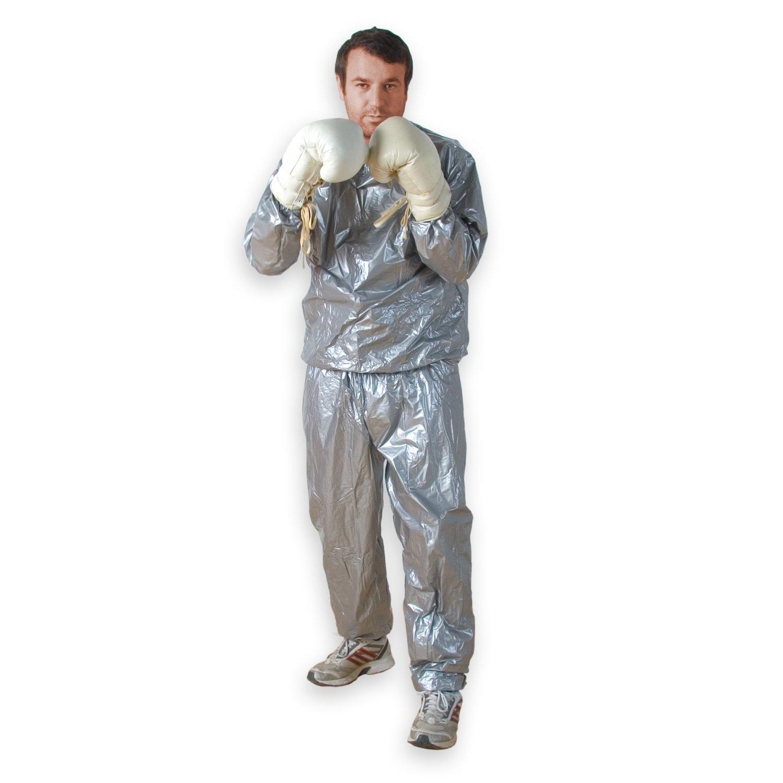sweat suit sauna suit for men and women 2-piece sauna suit boxing workout