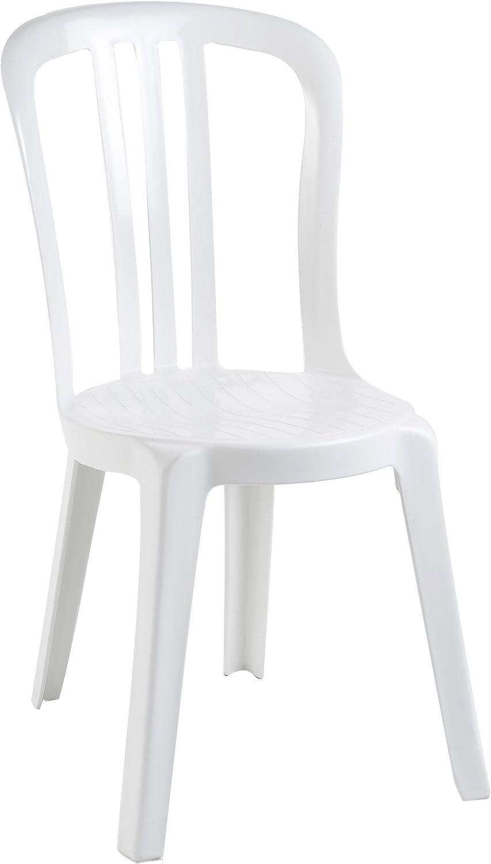 Grosfillex 49150004 Miami Chaise Bistrot, Blanco, 88 x 54 x 44 cm