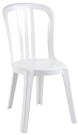 GROSFILLEX Miami Chaise Bistrot Blanc 88 X 54 44 Cm