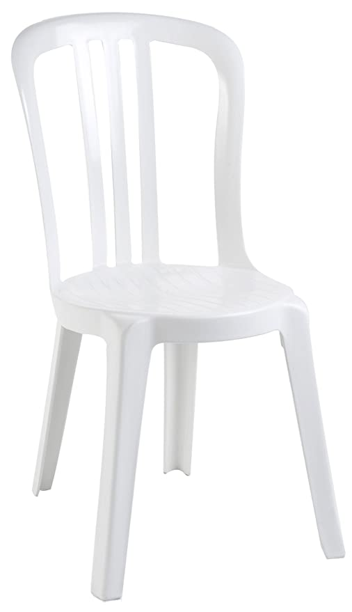Grosfillex Sedie Da Giardino.Grosfillex Miami Sedia Bistrot Bianco 88 X 54 X 44 Cm Amazon It