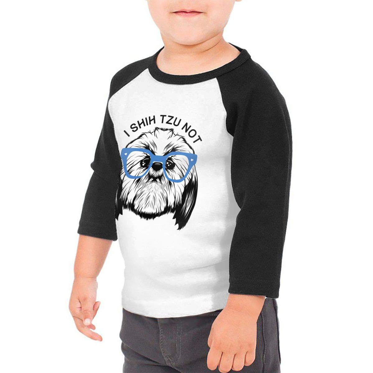 I Shih Tzu Not Unisex Toddler Baseball Jersey Contrast 3//4 Sleeves Tee