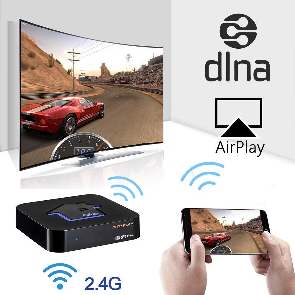 Youtube Stalker IPTV Live TV y VOD Admite Xtream IPTV GT MEDIA IPTV Box i-Fire Receptor Multimedia TV Reproductor Procesador R/ápido HEVC H.265 // WiFi Incorporado