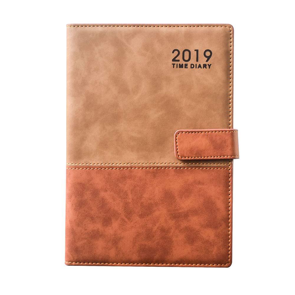 Agenda 2019 A5 de un día a una página con tapa de piel ...