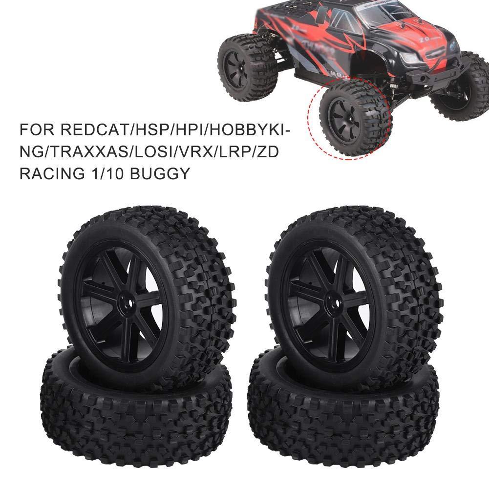 4pcs Roues de Camion RC pour Crawler Buggy de 1//10 ZD Racing Voiture Pneu en Caoutchouc de Voiture RC Blanc