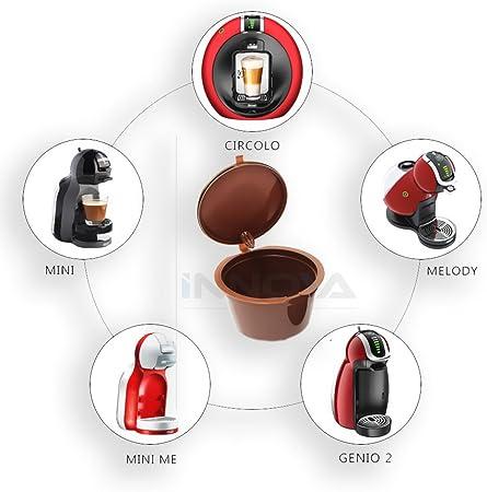 Innova® Reutilizable para filtros de cápsulas de café Dolce Gusto reutilización Recambio taza de café 1 pieza: Amazon.es: Hogar