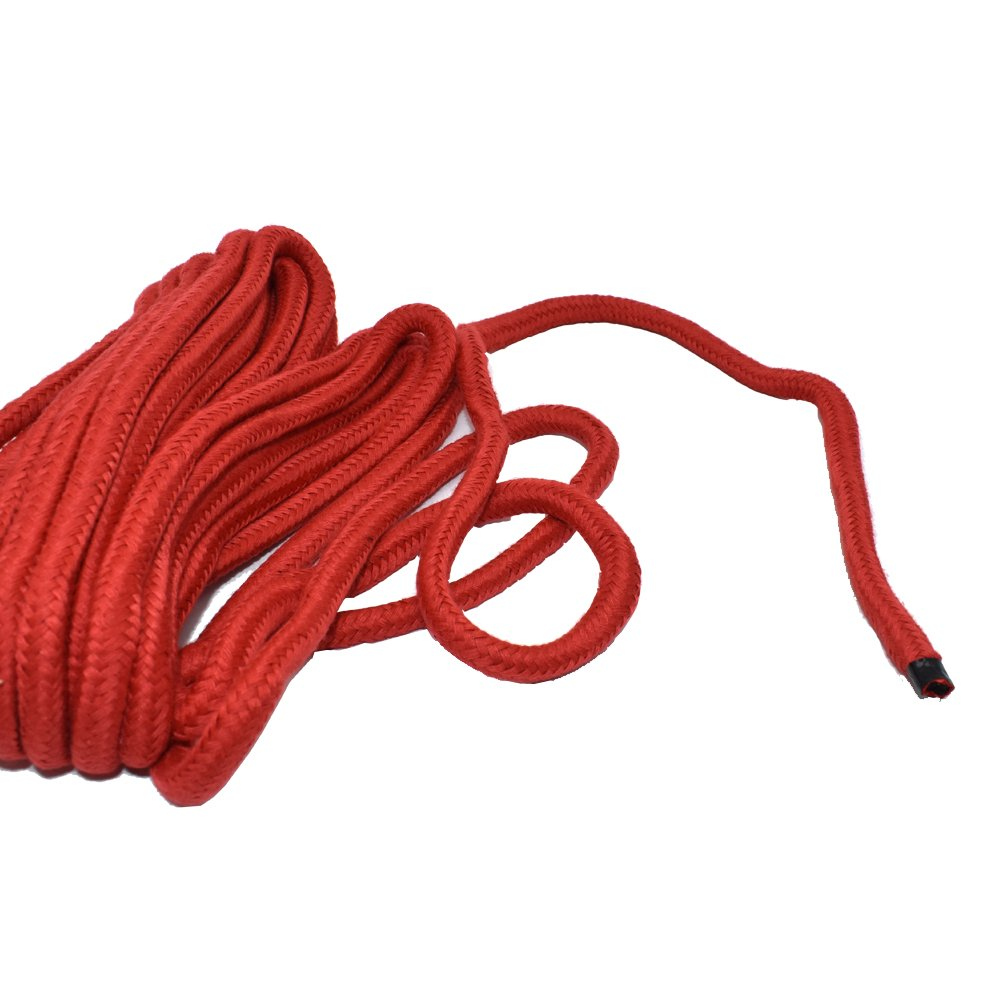 Renashed 3 Pack 32 Feet 10M All-Purpose Soft Twisted Cotton Braided -Knot Tying Rope (Black, Red, Purple) by Renashed (Image #4)