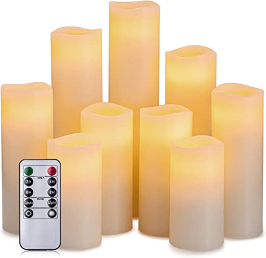 battery operated candles b&m