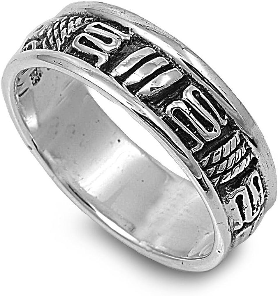 Princess Kylie 925 Sterling Silver Artisan Craft Band Ring