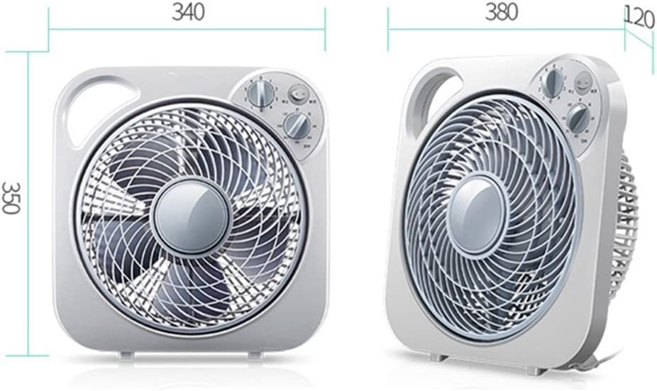 Ventilator Table Fan Outdoor Clip Dump Power Outage Four Adjustable Five Leaves Timing Energy Saving Silver Tingting Color : Silver