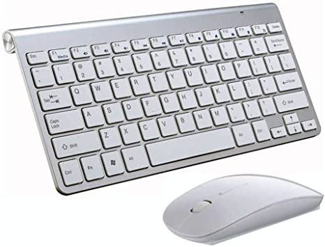 Laptops BK Wireless MINI Keyboard and Mouse for Windows 7 /& 8 Desktop PC