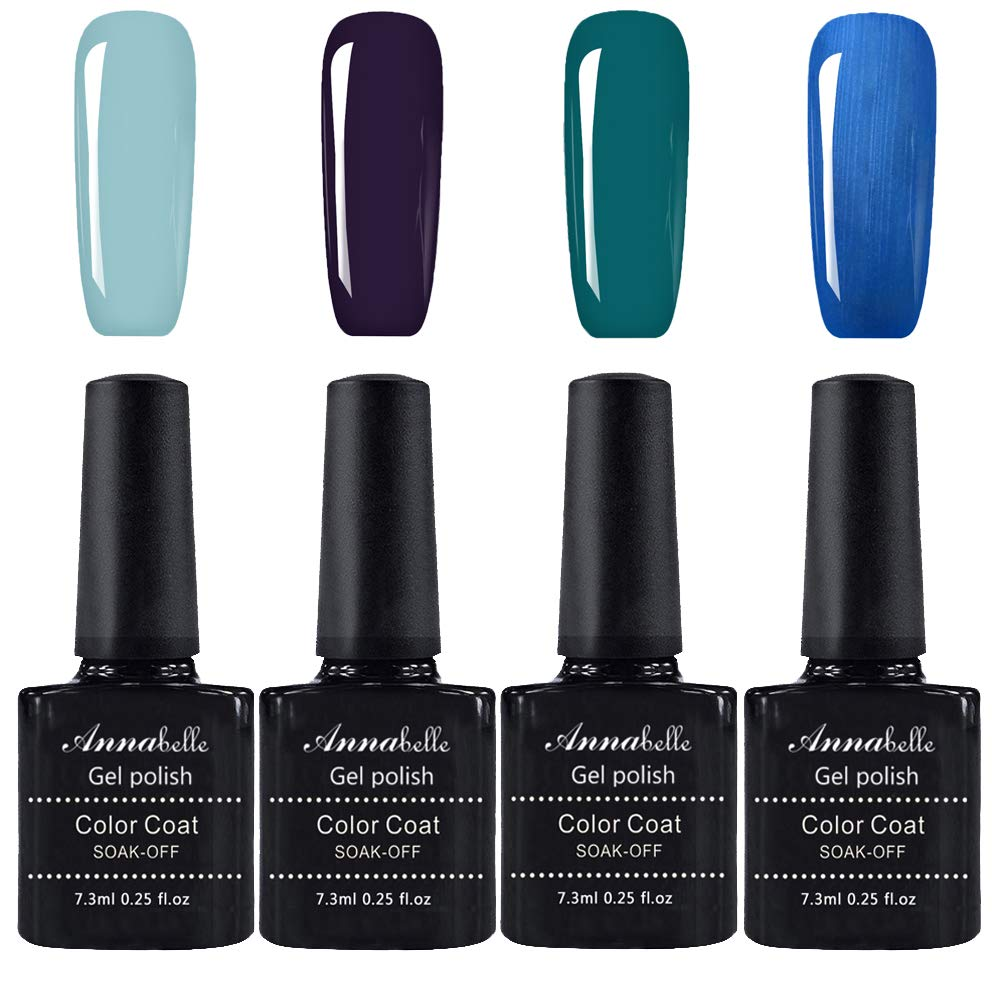 Annabelle Gel Nail Polish Soak Off UV LED Gel Gel polish (Lot of 4pcs 7.3ML/pc) 032