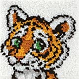 "Caron Natura Latch-Hook Kit, Tiger Cub, 12"" X 12"""